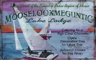 Sailing at Lake Lodge Art Sign
