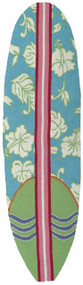 Surfboard Rug Hawaiian Aqua