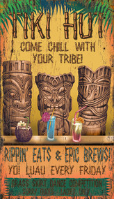 Custom Tiki Lounge Sign