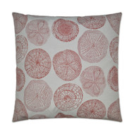 Embossed Sand Dollar Pillow - Red