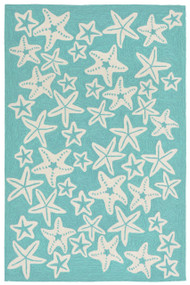Starfish Aqua Area Rug
