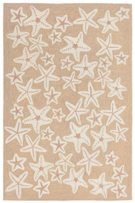 Starfish Tan and Ivory Rug