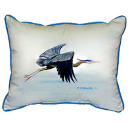 Eddie's Blue Heron Pillow