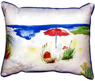 Red Beach Umbrella Pillow