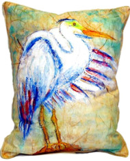 Egret on Rice Pillow