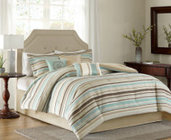 Seashore Striped Comforter Set - Queen Size