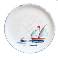 Sailboat Large Round Serving Platter