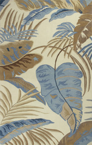 Blue Rain Forest Luxury Rug
