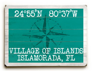Custom Latitude-Longitude Sign - Aqua