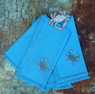Blue Crab Sprint Napkins - Set of 4