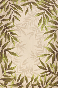 Nature's Greenery Palm Area Rug