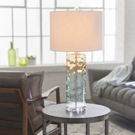 Astoria Glass Beach Lamp beauty light on