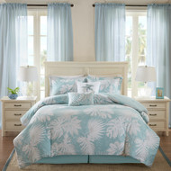 Sea Palm Grove Comforter Set - Queen Size