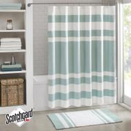 Spa Aqua Striped Shower Curtain
