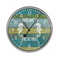 Seahorse Aqua Beach House Clock - Custom