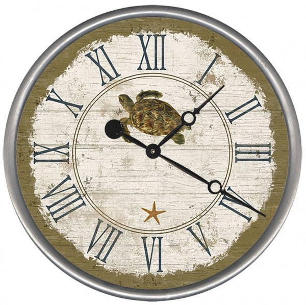 Beach Cottage Sea Turtle Clock Custom