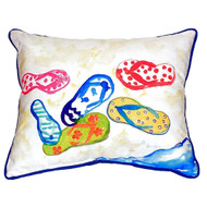 Colorful Flip Flops Pillow