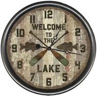 Lake Oars Clock - Custom