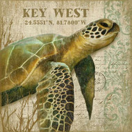 Custom Tropical Sea Turtle I Wall Art