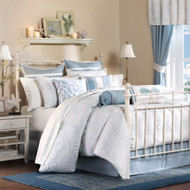 Blue and White Crystal Beach Bedding Set - Queen Size