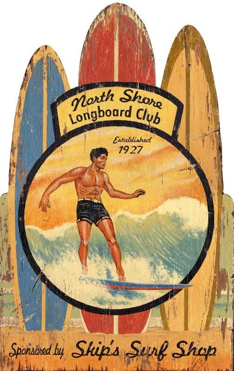 vintage hawaiian surfing wall decor. Black Bedroom Furniture Sets. Home Design Ideas