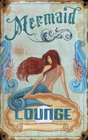 Mermaid Lounge Retro Wall Decor