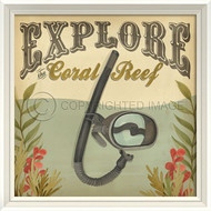 Explore the Coral Reef Beach Poster Wall Art