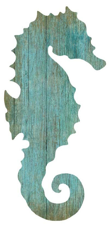 Aqua Seahorse Silhouette From Suzanne Nicoll Left