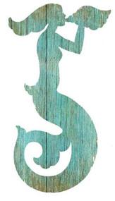 Aqua Mermaid Silhouette - Left