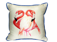 Two Pink Flamingos Pillow