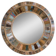 Jeremiah Round Wood Mirror