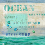 Ocean Words Beach Art
