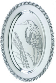 Latitudes Medium Oval Heron Serving Tray