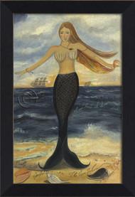Here at Dawn and Dusk Mermaid Art - Small