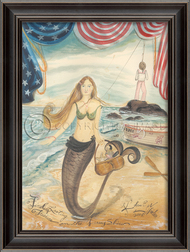 Finding Lasting Treasure - Large Mermaid Art