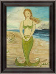 Large Red-Headed Mermaid in Green