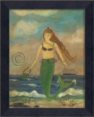Babe on the Beach Mermaid Art