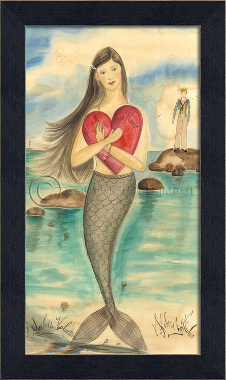 A Sailor S Valentine Mermaid Art