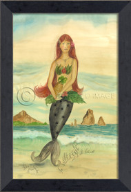 Welcome All to the Island - Small Framed Mermaid Art