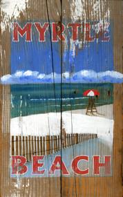 Vintage Lifeguard Beach Sign