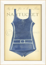 Vintage Swimsuit Art - Nantucket