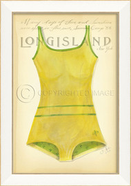 Vintage Swimsuit Art - Long Island