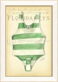 Vintage Swimsuit Art - Florida Keys