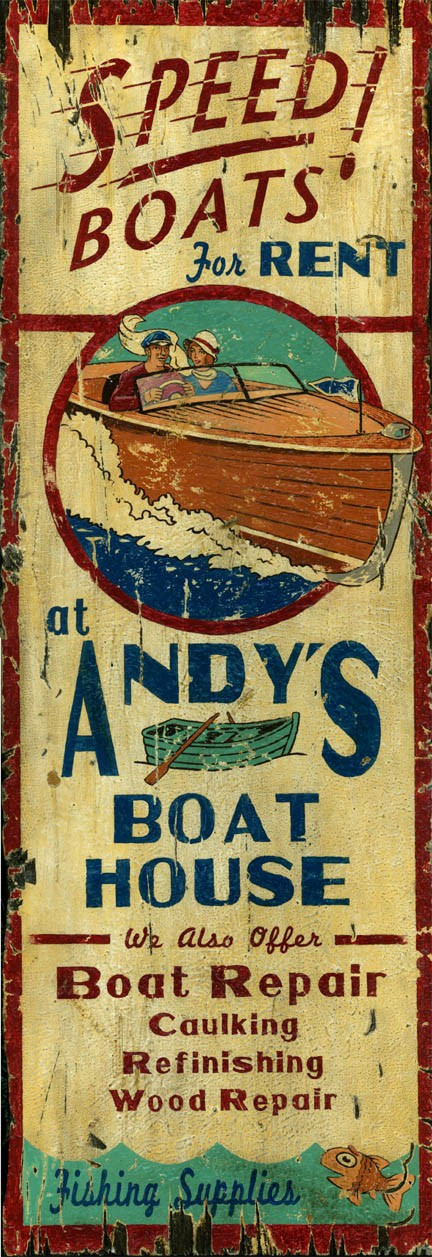 Andy S Boat House Sign Custom