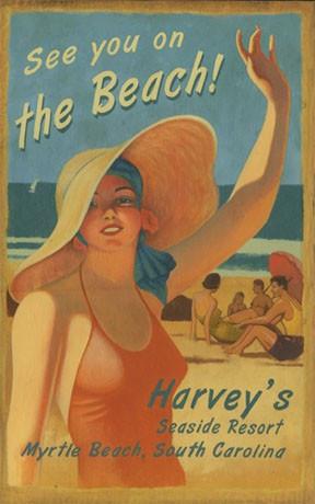See you at the Beach Coastal Sign