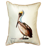 Friendly Pelican Beach Pillow