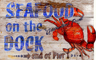 Seafood On the Dock Sign