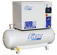 FIAC Silver 5.5/300 Rotary Screw Air Compressor, 5.5 hp, 19.7 CFM, 80 Gallon Tank Mounted, 208/240/3/60
