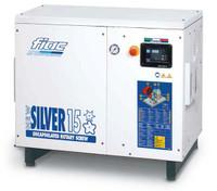 FIAC Silver 15/500 Rotary Screw Air Compressor, 15 hp, 55 CFM, 130 Gallon Tank Mounted, 208/240/460, 3 Phase, 60 Hz