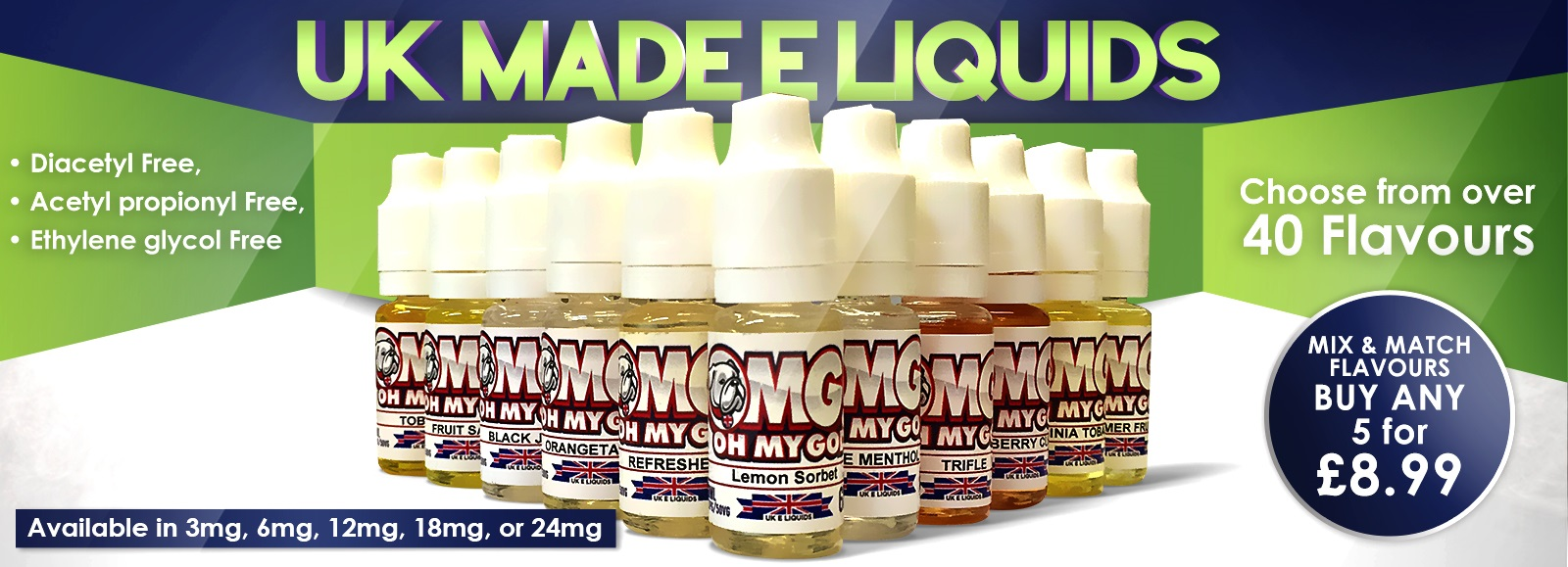 Cheap Uk Made E Liquid Juices Refills From 1 89p In 500 Mlk Bar 60ml Eliquid Vape Banana Choco Nut Premium Flavours